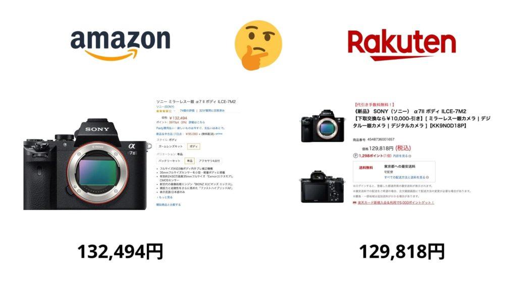 Amazon vs 楽天