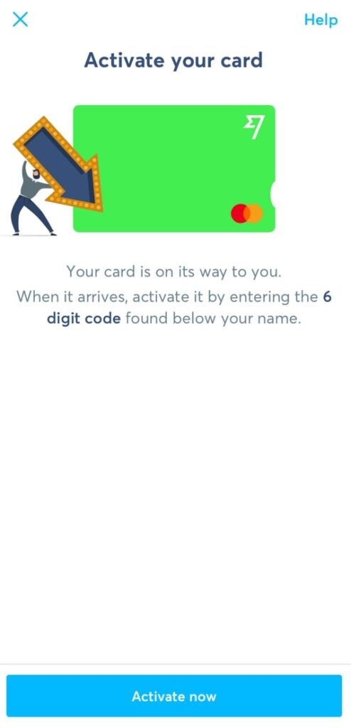 TransferWiseデビットカード有効化