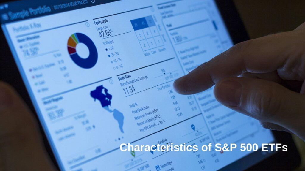 各S&P500連動ETFの特徴